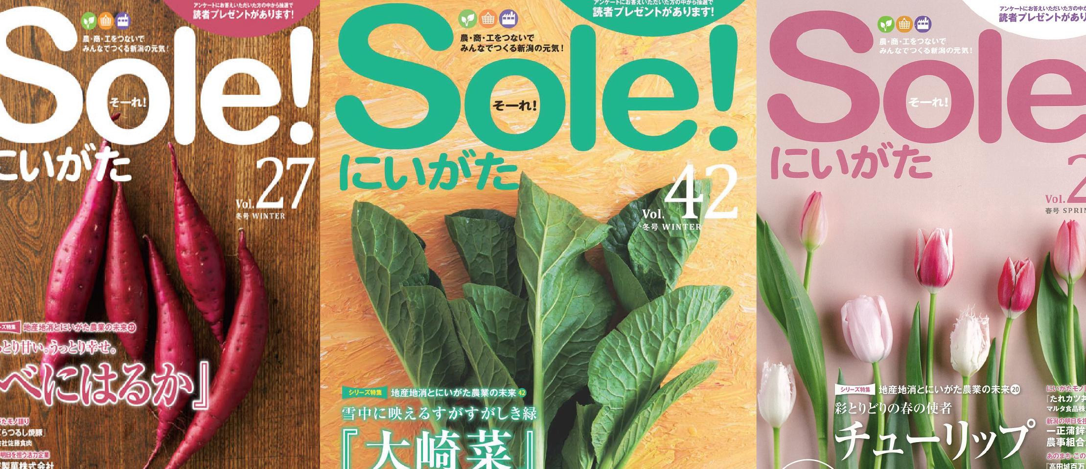 JAバンク新潟県信連様/農・商・工をつないでみんなでつくる新潟の元気!「Sole!にいがた」