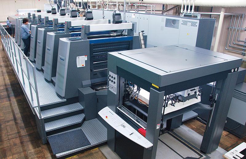 菊全判寸伸び型7色+コーター付UV仕様枚葉印刷機<br>スピードマスター XL105-7L(UV/IR)